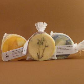 Seife (mit Leinöl, Lavendel, Zitrone)